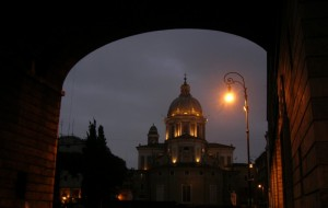 San Carlo al Corso (vista da piazza Augusto Imperatore)