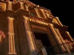 santuario del s.s. crocifisso di siculiana (illuminato in onore della festa del tre maggio )