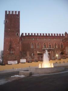 fontana con castello