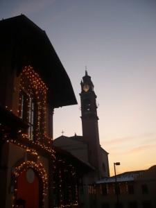 chiesa di Carimate al tramonto..Natalizia