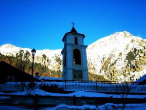 Il campanile della Chiesa di Fraciscio