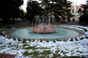 La fontana davanti l'Arena
