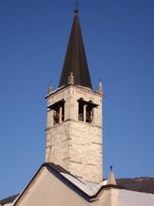 Lundo - il campanile della chiesa