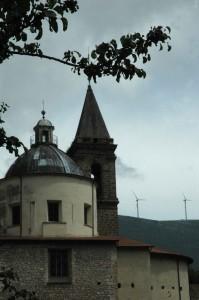 Campanile e cupola della chiesa di cocullo