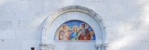 particolare della facciata del Convento di San Nicandro