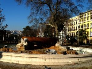 fontana dei leoni in villa a Napoli