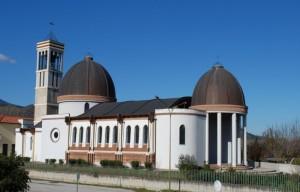 La chiesa della Trinità nella frazione di Velina