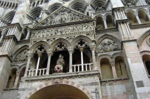 Un meraviglioso particolare della Cattedrale di Ferrara
