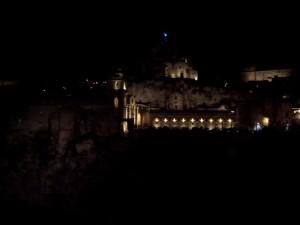 S. Pietro Caveoso & Madonna dell'Idris by night