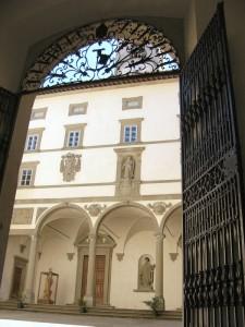 ingresso dell'abbazia di vallombrosa