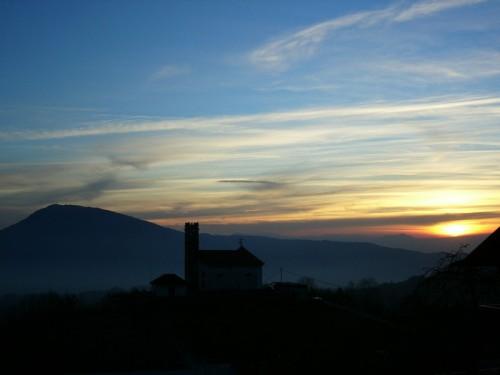 Chies d'Alpago - al tramonto