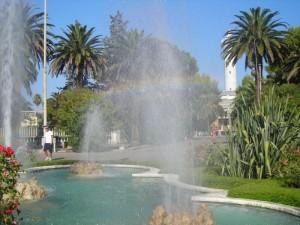 fontana con arcobaleno