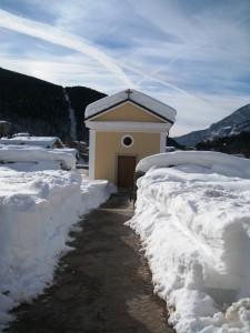 la cappella nel cimitero coperto