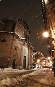 San Nicolò sotto la neve
