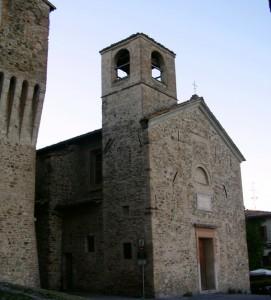 La chiesetta del castello di Torrechiara