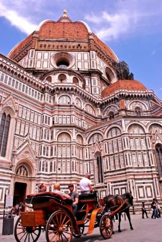 Firenze - Duomo di Firenze con carrozza