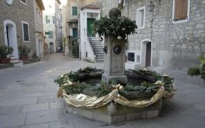 Una bella fontana nell'incantevole Seborga