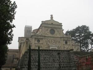 L'abbazia di Praglia nella nebbia
