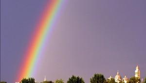 Arcobaleno su Santa Giustina