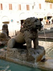 Fontana Santa Maria Maggiore Assisi - Particolare