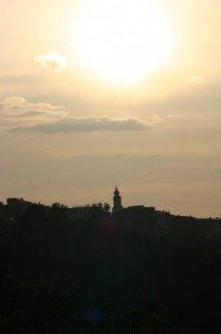 Chiesa al crepuscolo