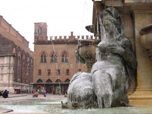 Ghiaccio alla Fontana del Nettuno