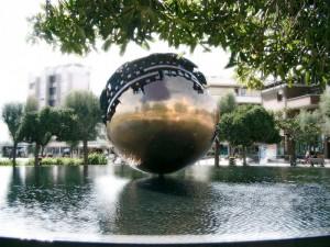 Una scultura nella fontana