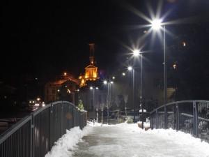 Notturno sulla chiesa di Porto Ceresio