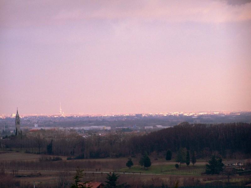 ''chiese illuminate dal tramonto viste da fagagna'' - Fagagna