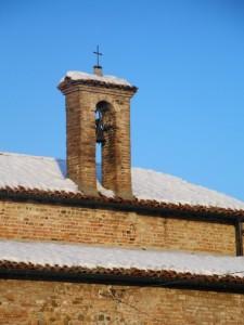 Carzeto - Chiesa Plebana di San Genesio - il campanile