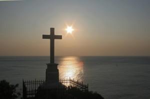 La croce sul mare di Bergeggi