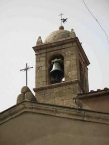 L'angioletto segnavento sulla punta del campanile