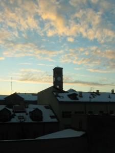 L'alba sulla Crocetta…