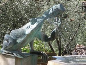 Particolare della fontana di San Sano