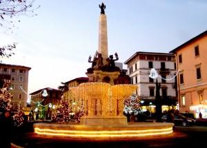 fontana rinnovata sulla piazza di Montecatini…