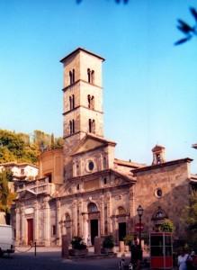 CHIESA DI S.CRISTINA, FACCIATA E TORRE CAMPANARIA