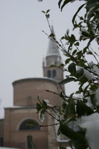 Badia Polesine - Abbazia con la neve 2