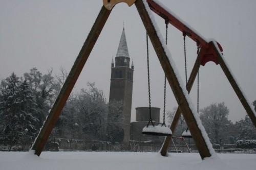 Badia Polesine - Abbazia,la neve,i bambini,i giochi..........