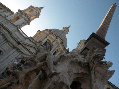 Roma - Fontana dei Fiumi e Chiesa di S.Agnese in Agone