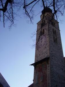 Il campanile con il Giudizio Universale