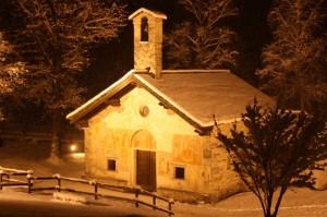 Chiesa di Luzzara sotto la neve 2