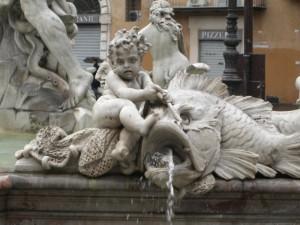 Fontana del Nettuno a Piazza Navona (Particolare 1)