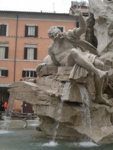 Fontana dei Fiumi (4° particolare)