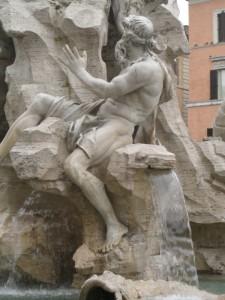 Fontana dei Fiumi (3° particolare)