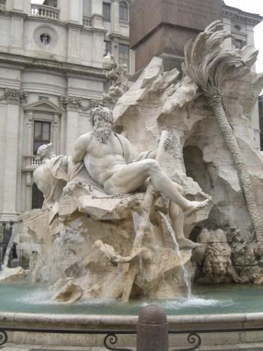 Roma - Fontana dei Fiumi (2° particolare)