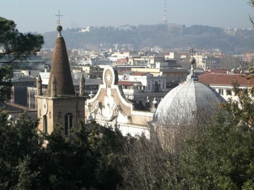 Roma - Campanile e Cupola Santa Maria del Popolo.