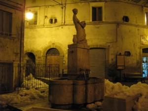 L'elegante fontanella di Arquata