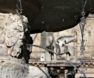 """""""Particolare della fontana Madonna Verona in piazza Erbe"""""""
