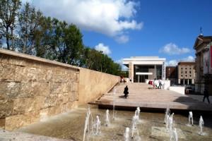 Fontana all'ingresso del Museo dell'Ara Pacis - Roma