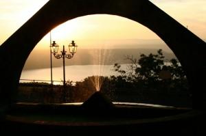 Tramonto con vista sul lago Omodeo